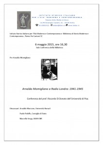 18-Arnaldo Momigliano a Radio Londra 1941-1945