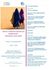 23-Convegno Donne e relazioni di genere nel Mediterraneo.Movimenti, corpi,diritti