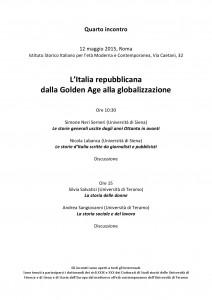 italia repubblicana dalla Golden Age alla globalizzazione