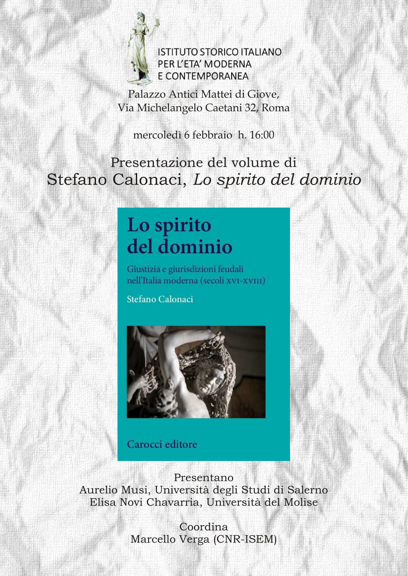 Calendario Iniziative Istituto Storico Italiano Per Letà Moderna